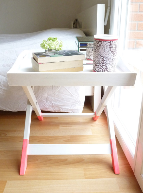 Diy Gold Dipped Side Table