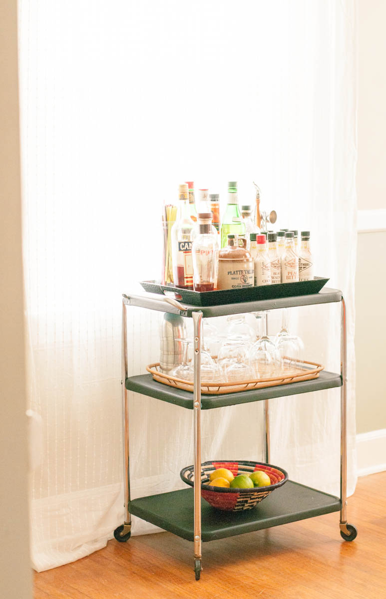 Dining room upgrade pt 2 the bar cart for Dining room upgrades