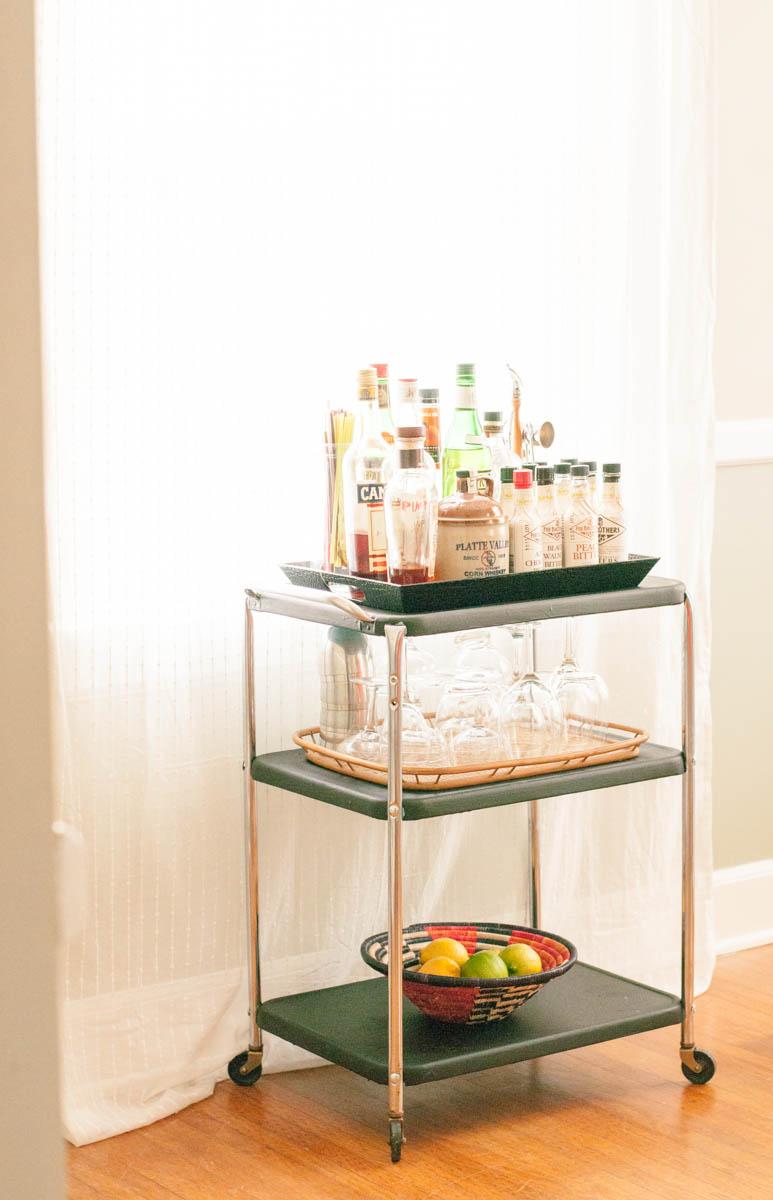 dining room bar cart | Dining Room Upgrade, Pt. 2: The Bar Cart