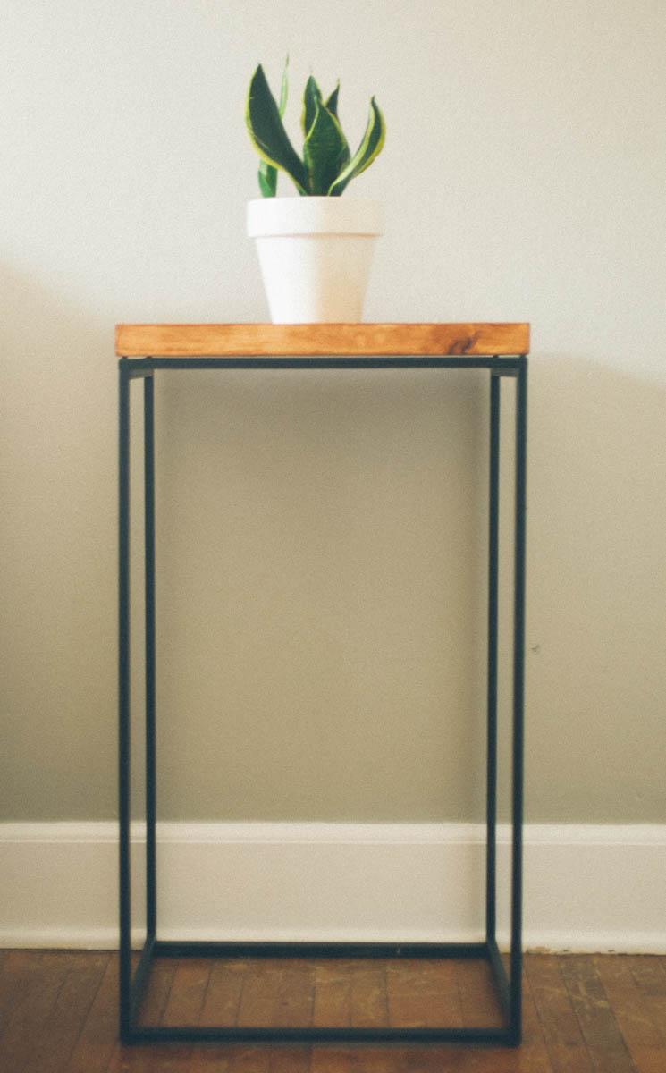 ikea hack attack making a side table. Black Bedroom Furniture Sets. Home Design Ideas